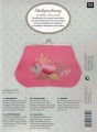 **NEW Xst Pink Floral Coin Purse Kit 13/18cm